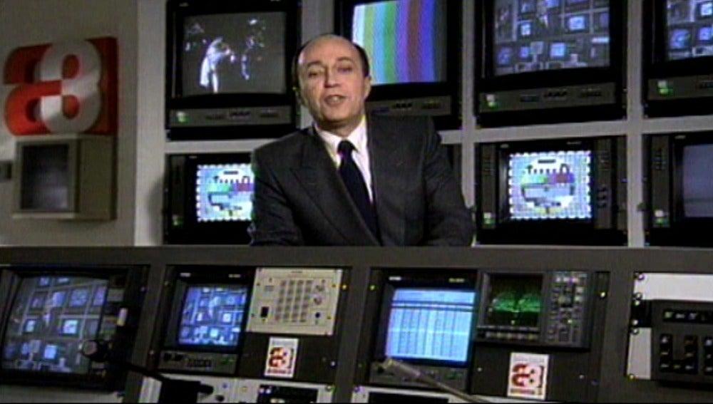 Miguel Ángel Nieto, en la primera emisión de Antena 3