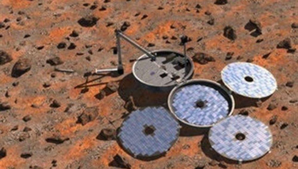 Foto de ESA del Beagle-2 encontrado