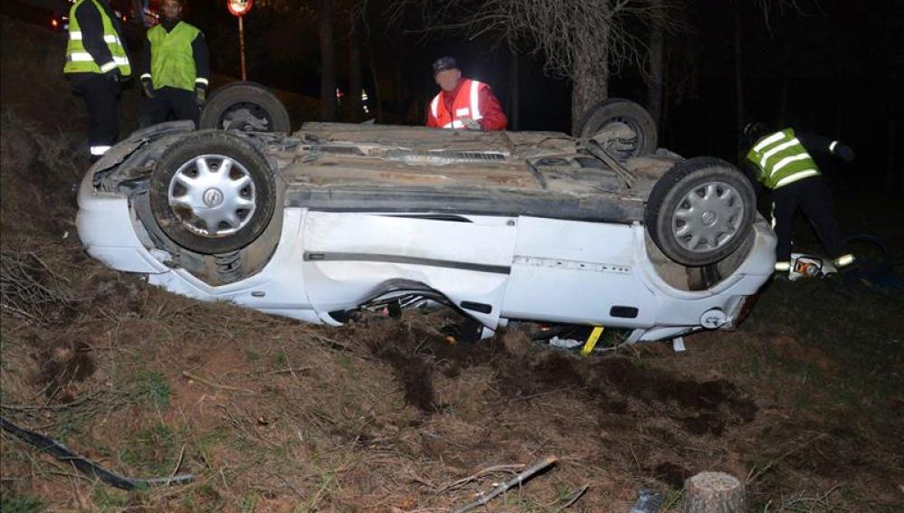 Ocho muertos en ocho accidentes de tráfico durante el fin de semana