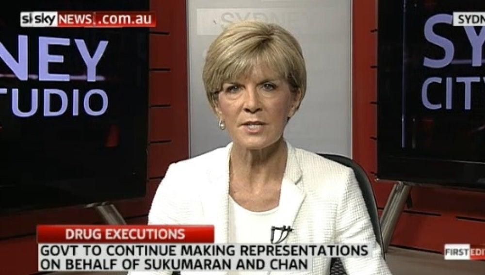 Ministra de exteriores australiana