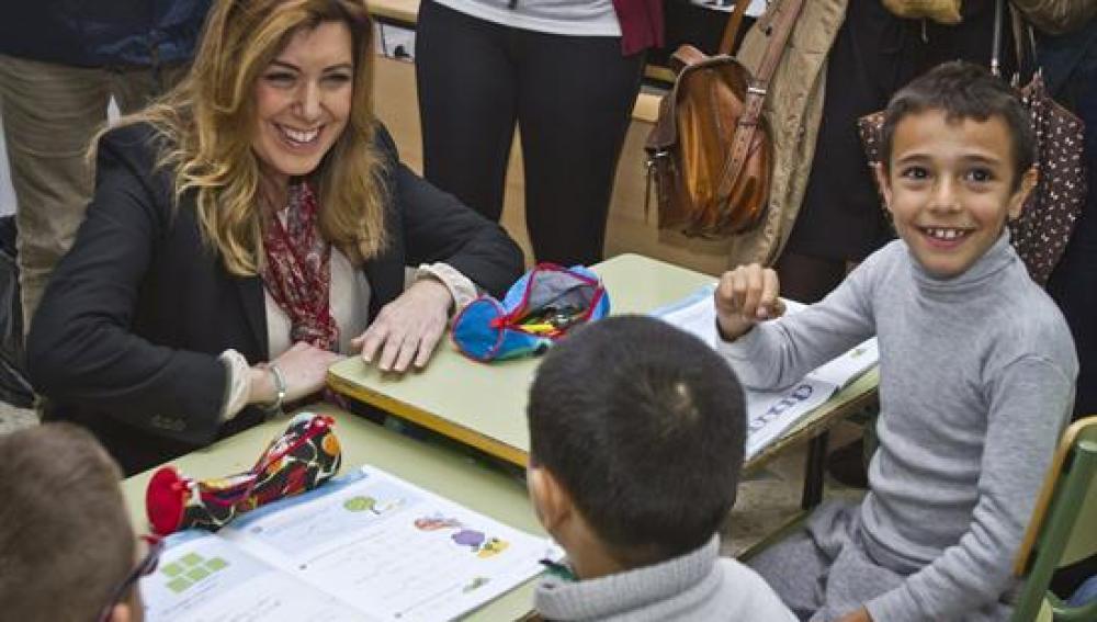 Susana Díaz en la inauguración de un colegio público