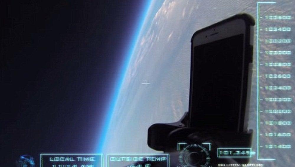 El iPhone 6 en el espacio