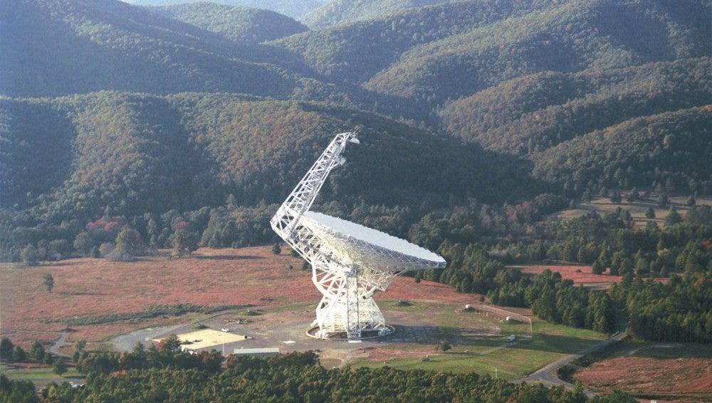 Telescopio cerca del pueblo