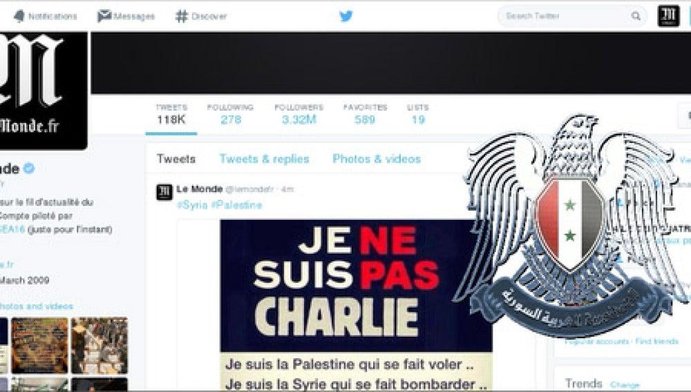 Piratean la cuenta de Le Monde
