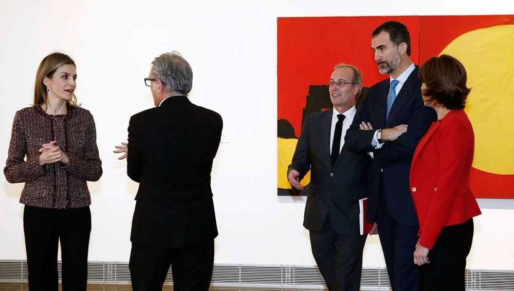 Los Reyes de España don Felipe y doña Letizia, en la inauguración del Museo Universidad de Navarra