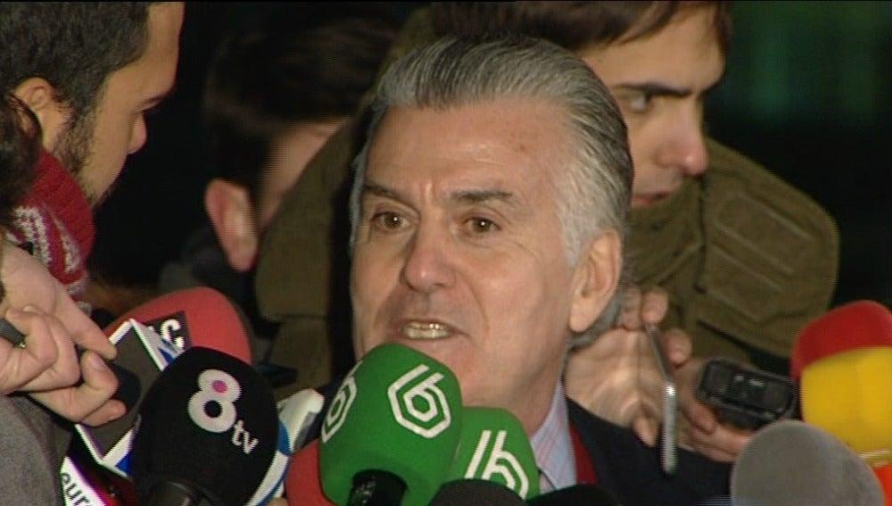 Luis Bárcenas, a su salida de la cárcel