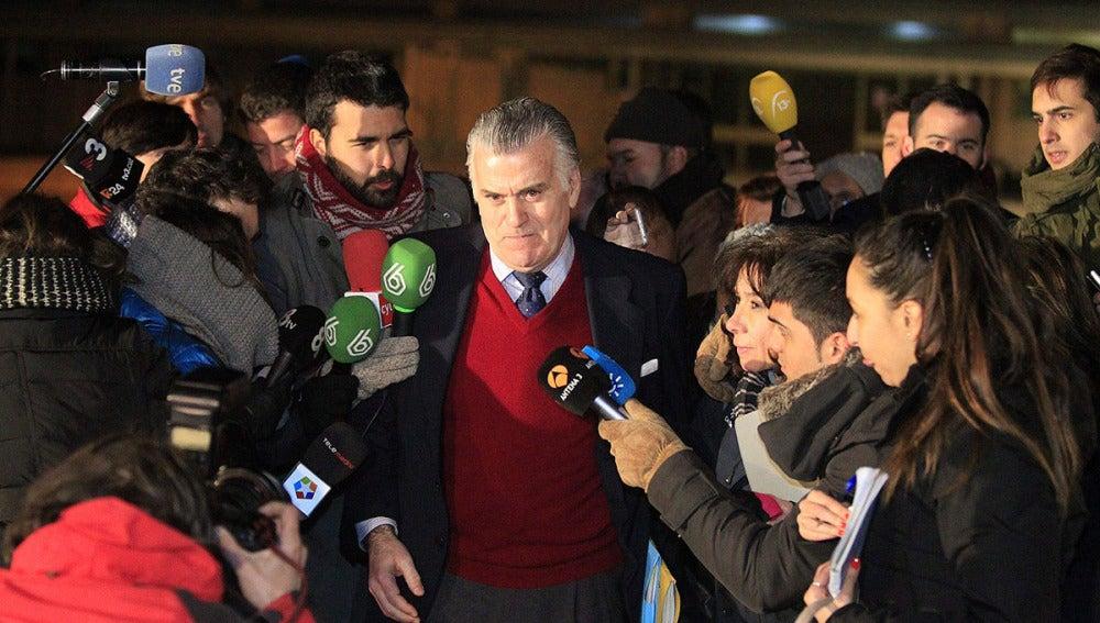 Luis Bárcenas, a su salida de Soto del Real