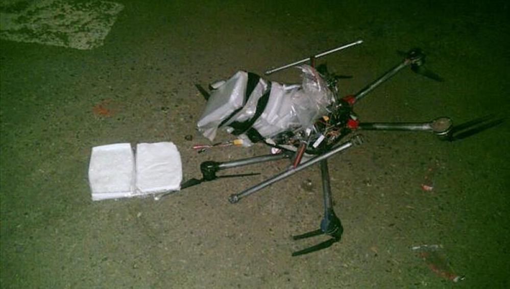 Cae un 'drone' cargado con droga en Tijuana