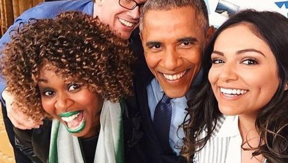 Obama, con tres famosos youtubers