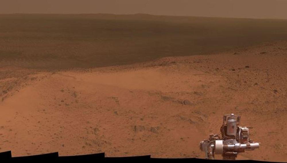 Panorámica de Marte capturada por el rover Opportunity