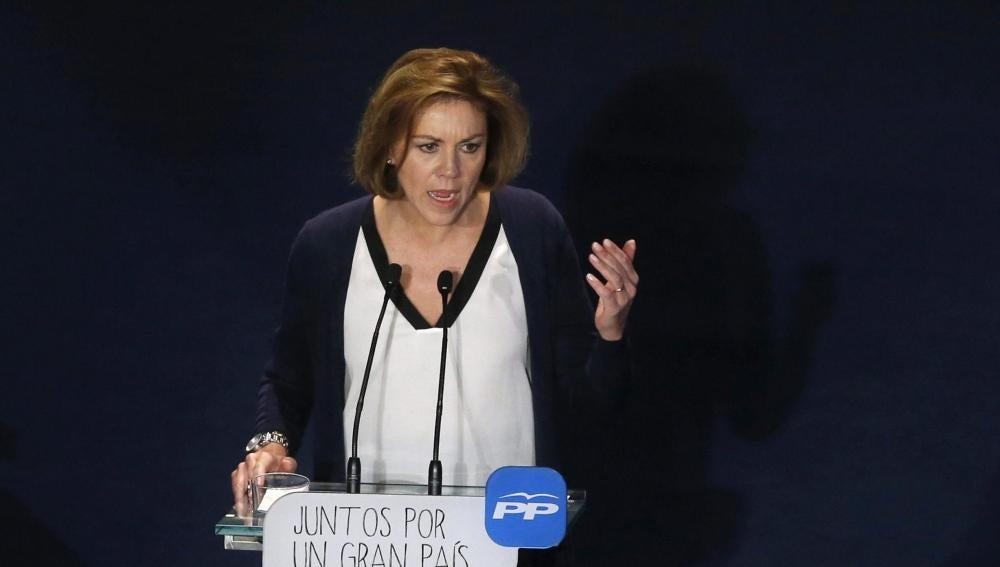 María Dolores de Cospedal, durante su intervención
