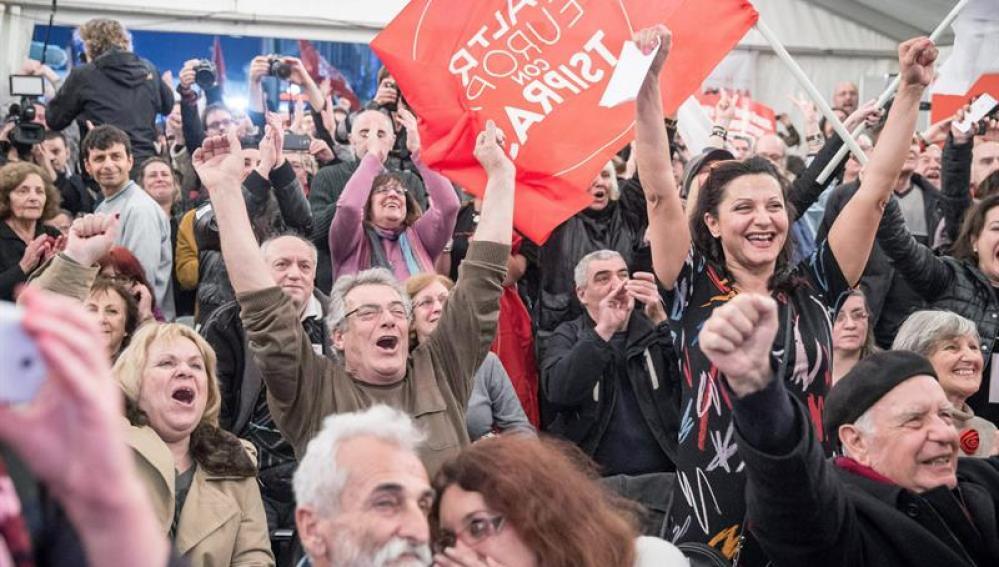 Simpatizantes de Syriza