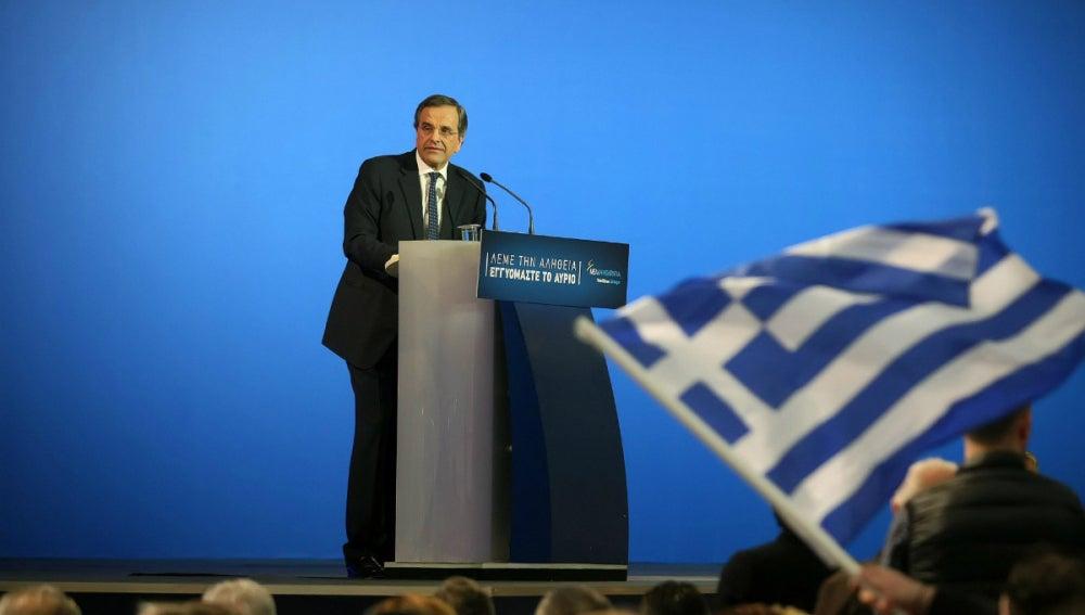 Samaras, en un discurso