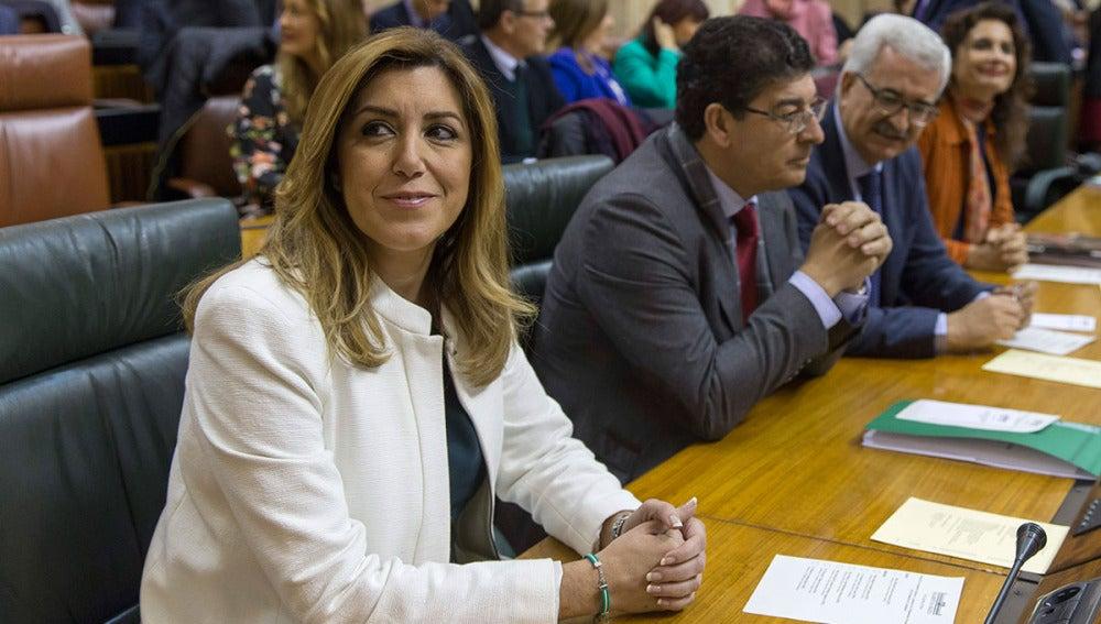 Susana Díaz,  en el Parlamento andaluz
