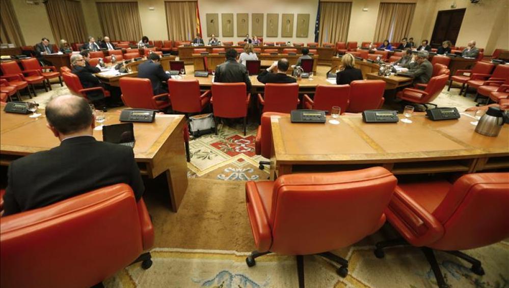 Reunión de la Diputación permanente en el Congreso.