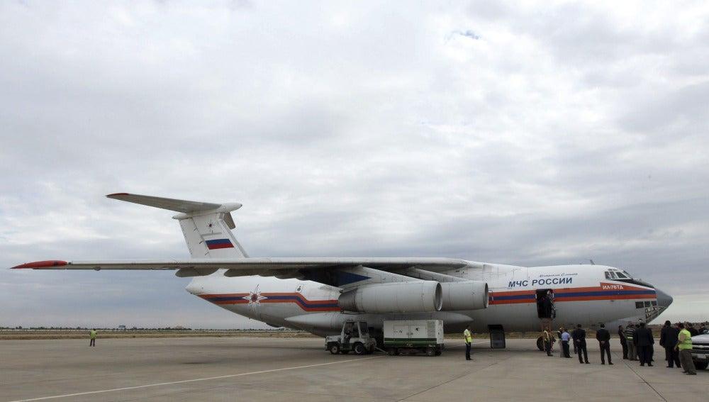 Un avión ruso aterriza en el aeropuerto de Bagdad
