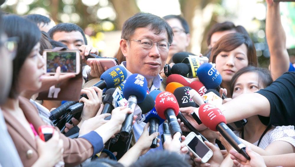 El alcalde de Taipei, Ko Wen-je
