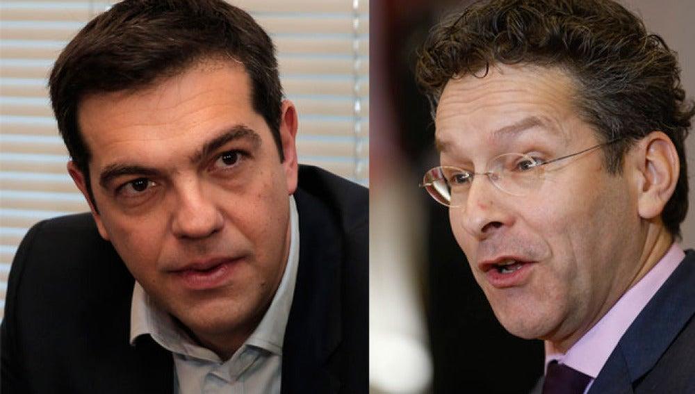 Tsipras y Jeroen Dijsselbloem