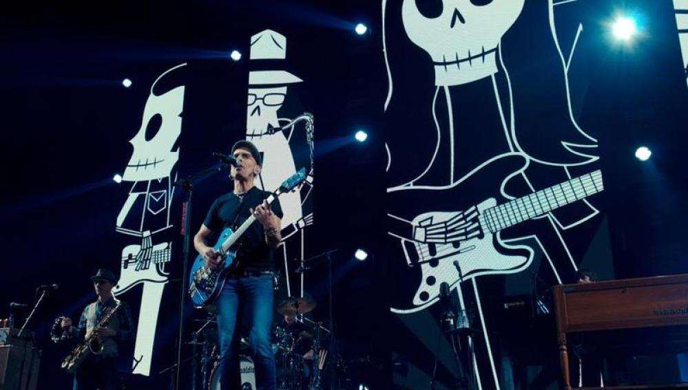 Fito durante su concierto en Madrid diciembre de 2014