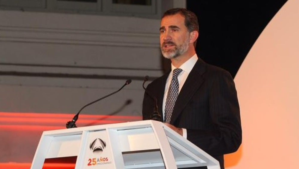 El Rey Felipe VI, en la gala del 25 Aniversario de Antena 3