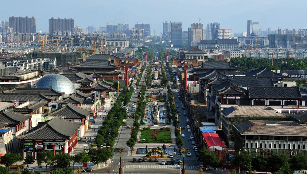 Ciudad china de Xian donde se produjo el suceso.