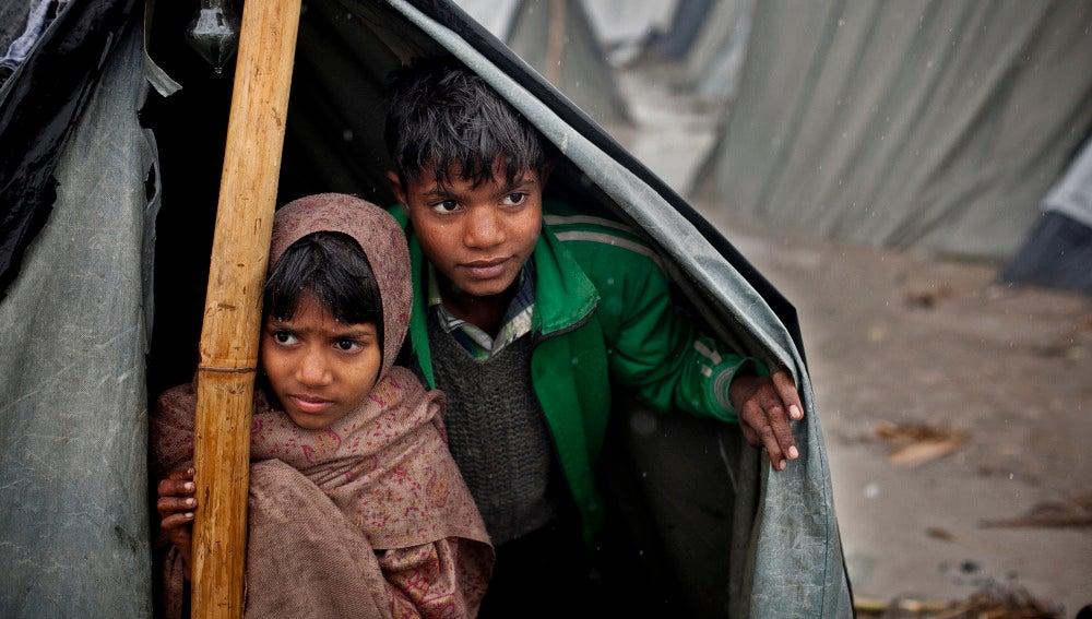 Niños en la India (archivo)