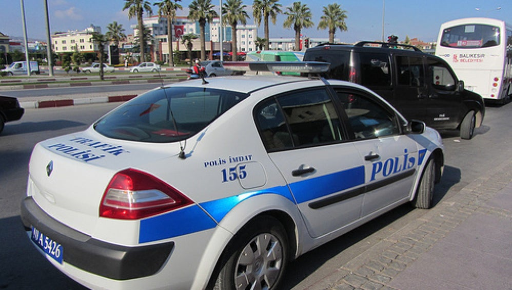 Coche de policía en Turquía