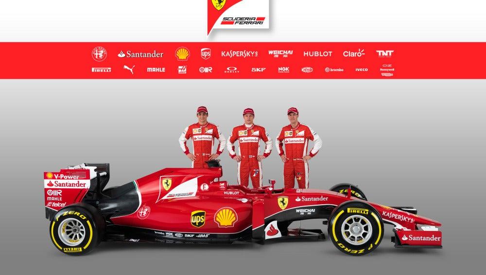 Vettel y Raikkonen con el nuevo Ferrari