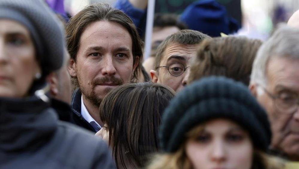 Pablo Iglesias en la marcha de Madrid