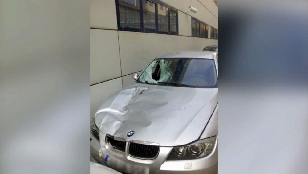 Estado del coche que atropelló al mosso