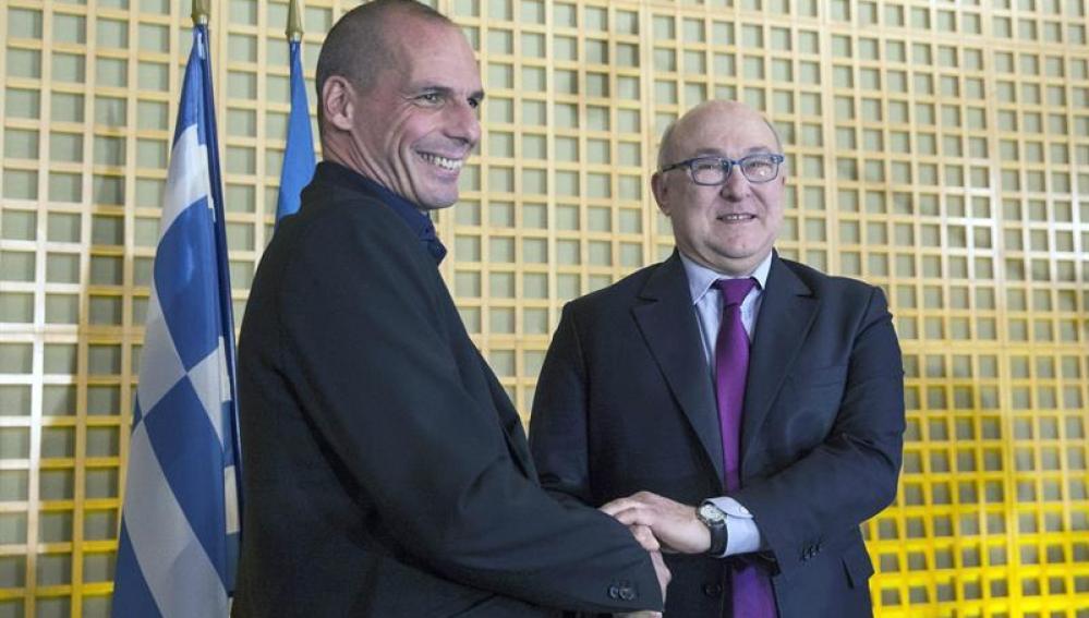 Los ministros de Finanzas de Francia y Grecia
