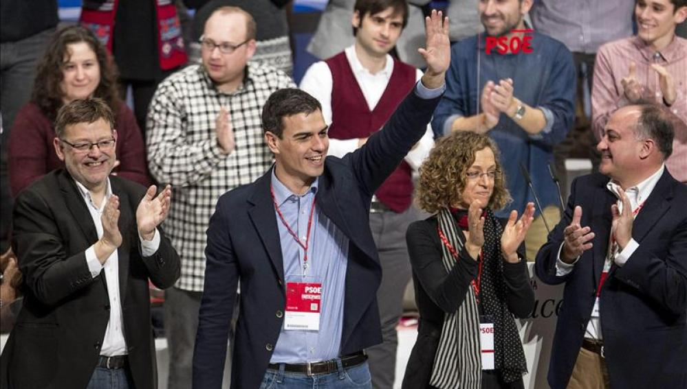 """Pedro Sánchez: """"En ganas de ganar a la derecha no nos gana nadie"""""""