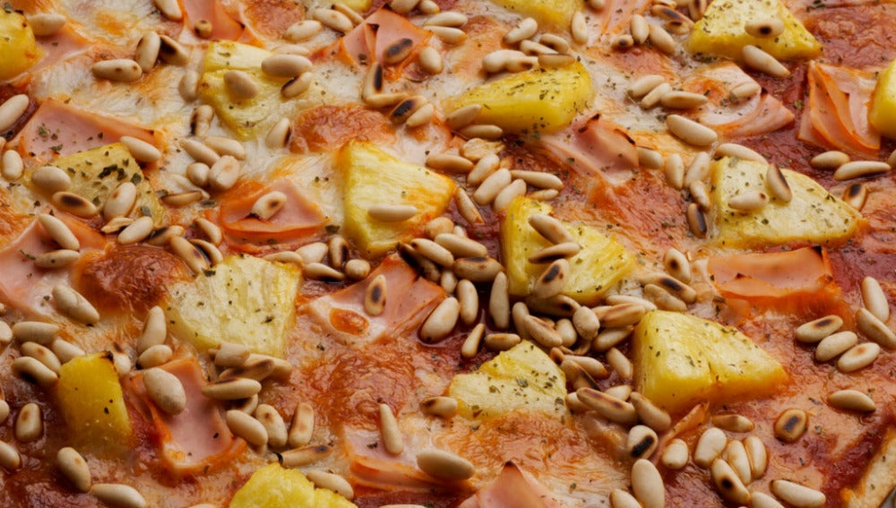 Pizza picante de pavo y piña
