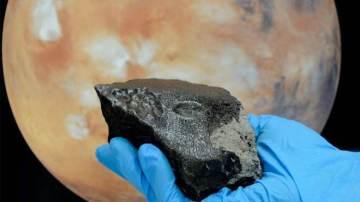 Imagen del meteorito NWA 7034