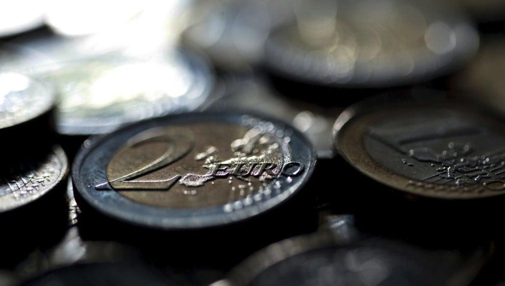 Monedas de dos y un euros