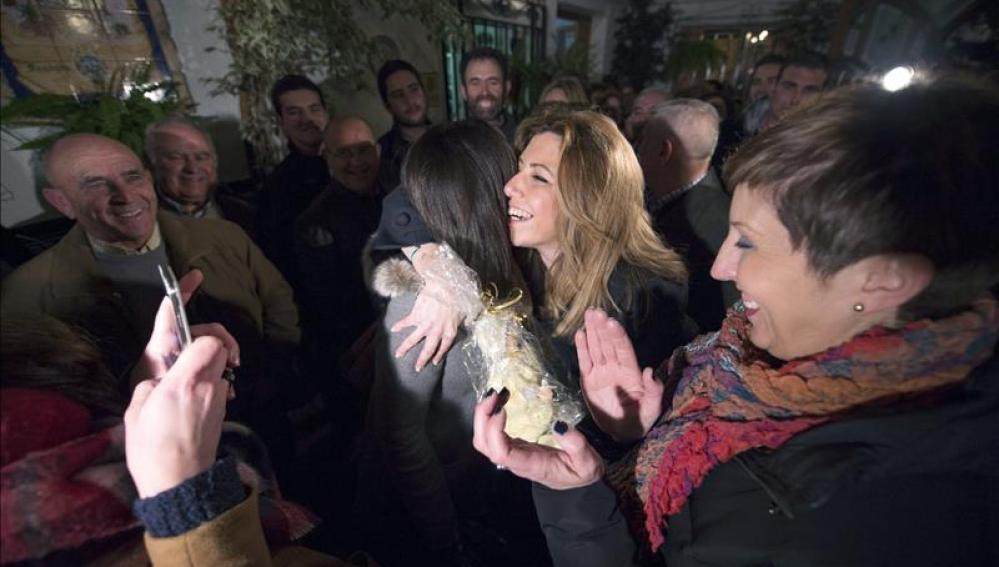 Susana Díaz tras el acto