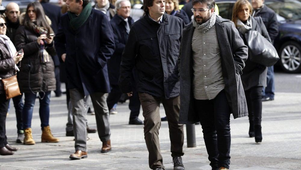 Jordi Évole, a su llegada a la barcelonesa Basílica de la Concepció