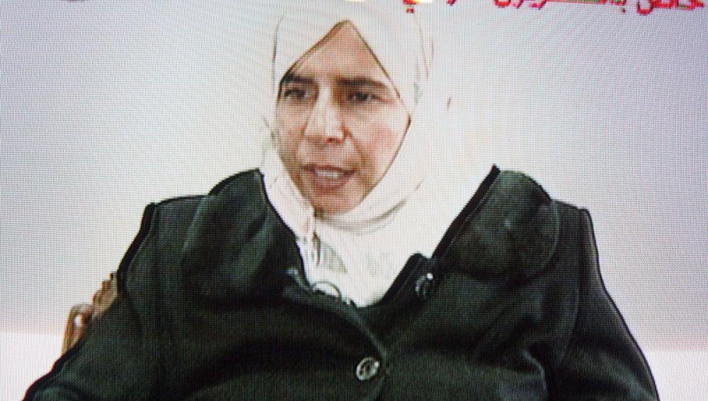Captura de la televisión jordana de Sajida al Rishawi en 2005