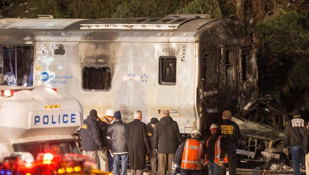 Imagen del tren accidentado