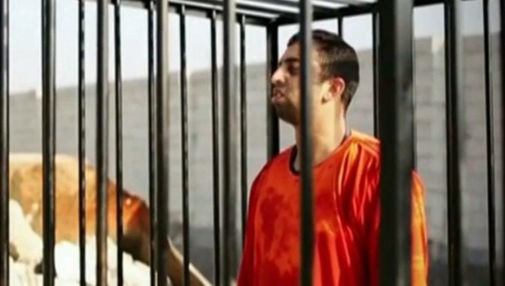 Momento del vídeo de la ejecución del piloto jordano