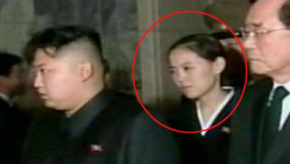 Supuesta foto de la hermana de Kim Jong-un en un acto público