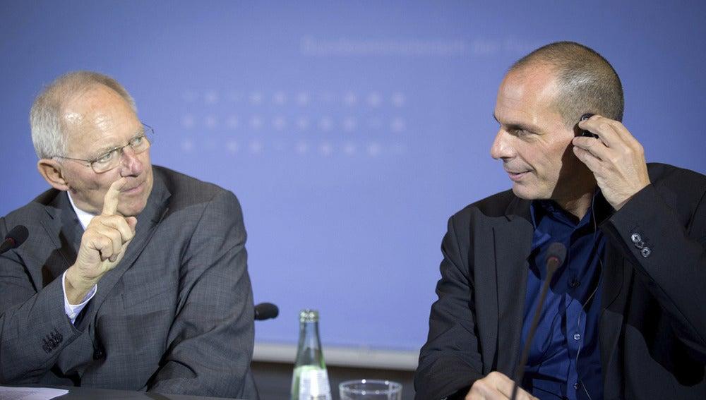 Schäuble y Varufakis