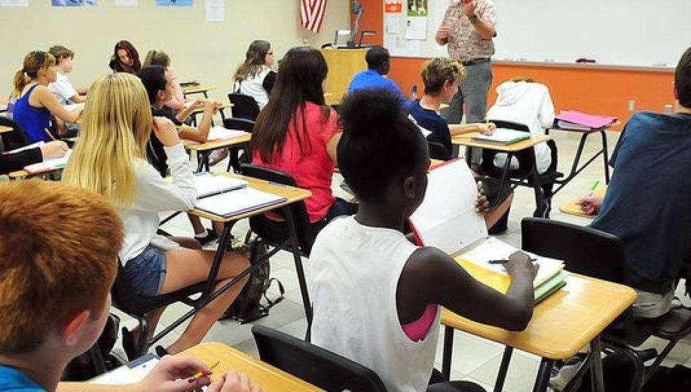 Clase en un instituto americano