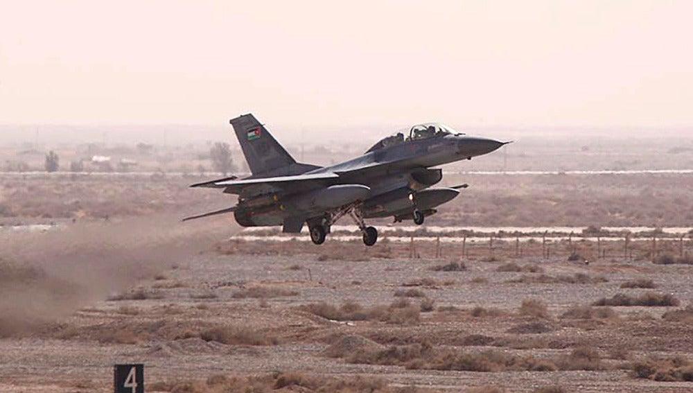 Un avión de combate jordano