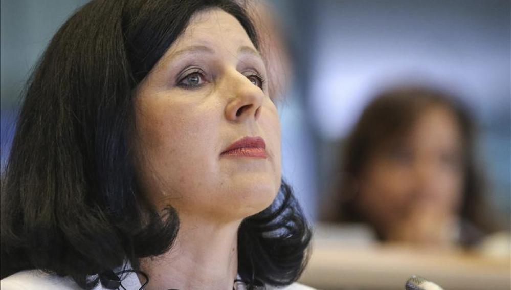 La comisaria de la Unión Europea de Justicia, Vera Jourova.