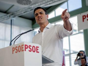 Pedro Sánchez, en un acto en Extremadura