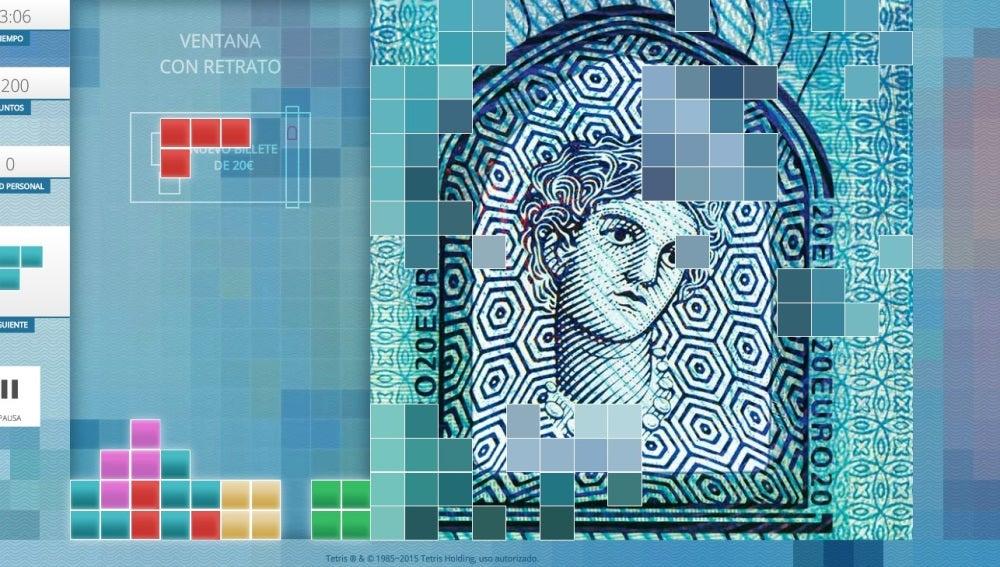 El BCE inventa un 'Tetris' para dar a conocer el nuevo billete de 20 euros
