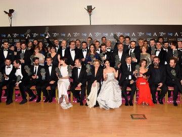 Foto de Familia de todos los ganadores de los Premios Goya 2015