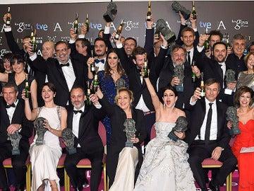 La tradicional foto de familia con todos los ganadores