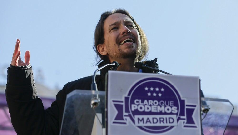 """Pablo Iglesias: """"Las encuestas demuestran que David puede ganar a Goliad"""""""